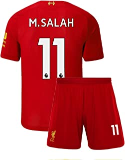 Youth M. Salah Jersey 11 Liverpool Shorts Home 2019/20 Kids Soccer Mohamed
