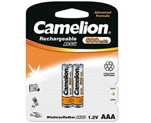 2 x Akku Batterie Camelion AAA 600mAh für Festnetz Telefon Siemens Gigaset SX550i , S67H , SX810 ISDN , A220 , AS285 , A510 Duo , S810 ,455X , CX610 ISDN , S79H C300 , A285 , S810H , A420 , C100 , SX440 ISDN , SX810 A , E500A , SX445 ISDN , C150 , A600 , 450X , C385 Duo , C610H , C595 , C610 , C300A Duo , C59H , A400 , C590 , Panasonic KX-PRW110 , KX-TG8561 , KX-TG6522 , KX-PRS110 , KX-TG6721 , Telekom 502 Dect , A205 , 501i , 300i , 103 , A404 , CA34 , A503i