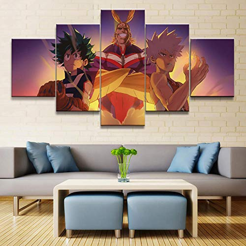 WHYWY Impresiones sobre Lienzo,Hogar Moderno Decorativo HD Impresión 5 Piezas Espada Arte Pintura En Línea Cartel Imagen Modular Arte De Pared (Sin Marco) Tamaño B