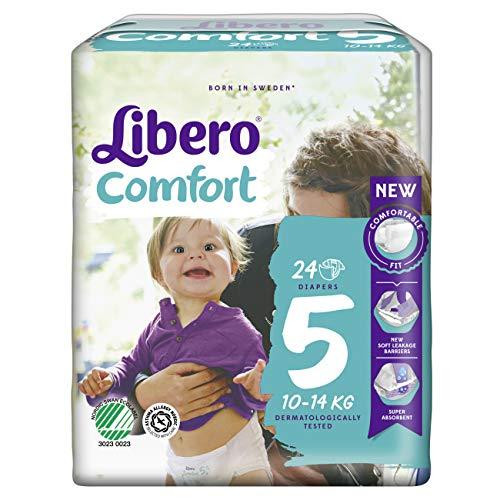 Essity Italy Libero Comfort 5 Pannolino Per Bambino Taglia 10-14kg 24 Pezzi