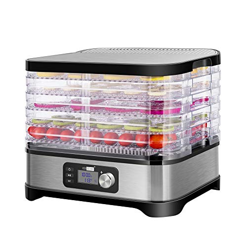 Best Price VIVOHOME Electric 400W 5 Trays Food Dehydrator Machine with Digital Timer and Temperature...