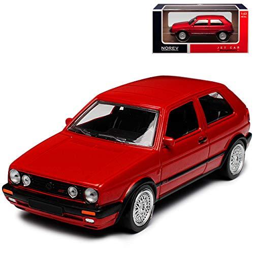 Volkwagen Golf II G-T-I G60 Rot 1983-1992 1/43 Norev Modell Auto mit individiuellem Wunschkennzeichen