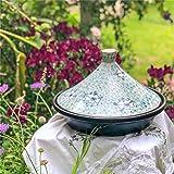 Saludable cerámica Japonesa Caliente Hecha a Mano Cacerola de cerámica marroquí Arcilla Antiadherente Sopa Saludable Resistente al Calor Mini Porcelana ine 27 * 19 cm