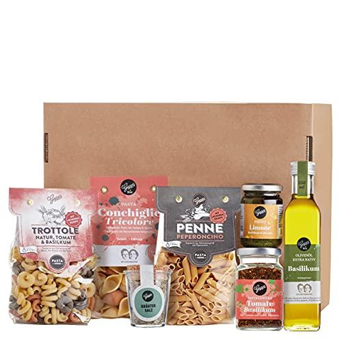 Gepp's Feinkost Pasta Paket Single | Grundpaket mit leckeren italienischen Delikatessen, hergestellt nach eigener Rezeptur | Als Geschenk für echte Pastafreunde oder für den eigenen Vorrat (A0057))