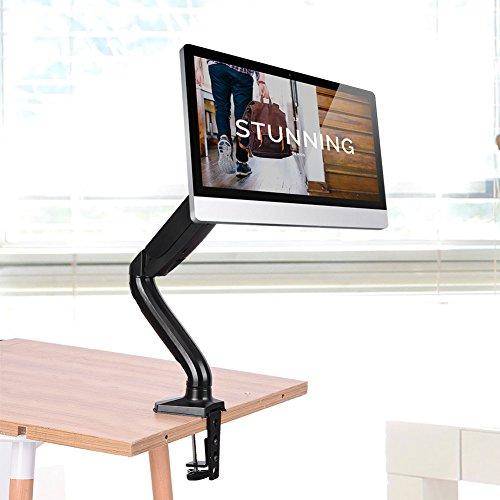 SCHUHREGALE Un solo brazo de escritorio de 360° giratorio de elevación para TV/Monitor de pantalla de ordenador Soporte de soporte