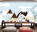 BLZQA 3D Papel tapiz Fotográfico Pico de la montaña abstracta Mural Salón Dormitorio Despacho Pasillo Decoración murales decoración de paredes moderna 200x150 cm-4 panelen
