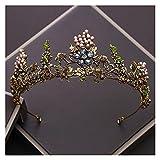 tggh Brautkrone Barock Vintage Gold Kristall Blumen Perlen Tiaras Strass Queen Kronen Hochzeit Haarschmuck