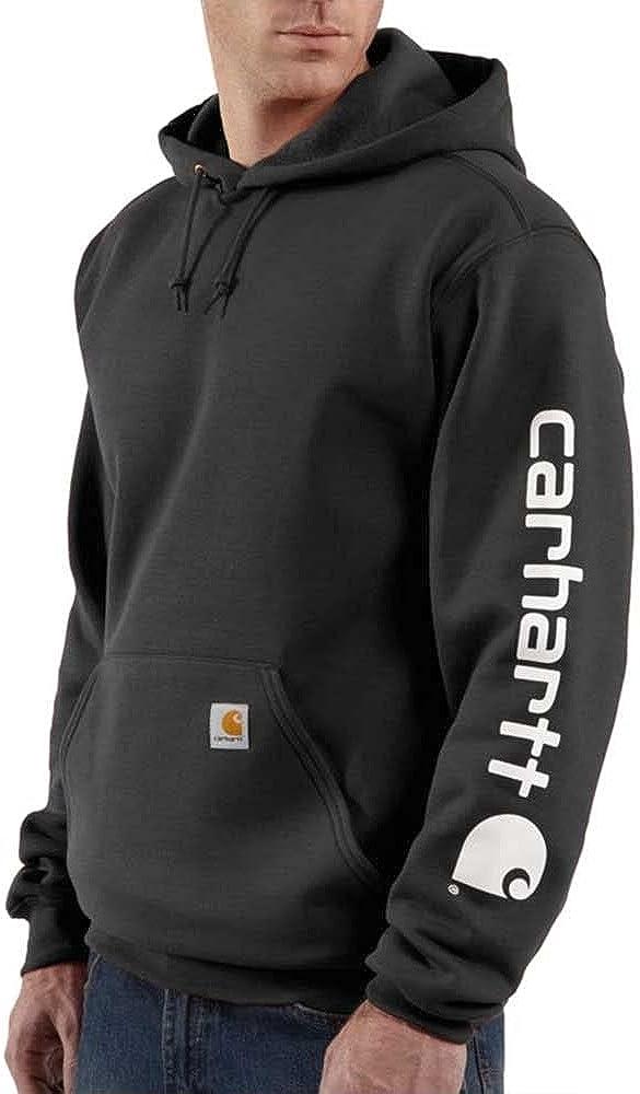 Carhartt Men's K288 Midweight Logo Sleeve Hooded Sweatshirt