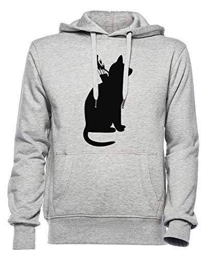 Mi Gatos Mejor Que Tuyo Hombre Mujer Unisexo Sudadera con Capucha Jersey Gris Tamaño XXXL - Women's Men's Unisex Hoodie Sweatshirt Grey