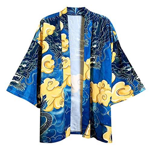 Dasongff Kimono Samurai Jas met 3D-print, Japanse voorjaarszomer, Kimonos, cardigan, jas, nachthemd, badjas, nachtkleding, baggy, tops, strandhemd, overgangsjas