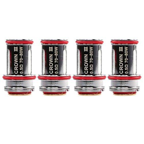 Uwell Crown 3 Coils, 0,5 Ohm, SUS316 Edelstahl, Riccardo Verdampferköpfe für e-Zigarette,...