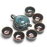 Esmalte de cerámica Tazas de té Chino Kung Fu Teaware Establece China Tea Set Tetera Teaset gaiwan Juego de té Copas de Ceremonia del té Maestro Tetera, 3 LMMS ( Color : 3 , Size : - )