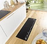 Küchenläufer Küchenmatte Läufer Küchenteppich Kitchen Schwarz KL-20