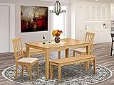 East West Furniture CAAN5C-OAK-C Dining Set, 5 Piece
