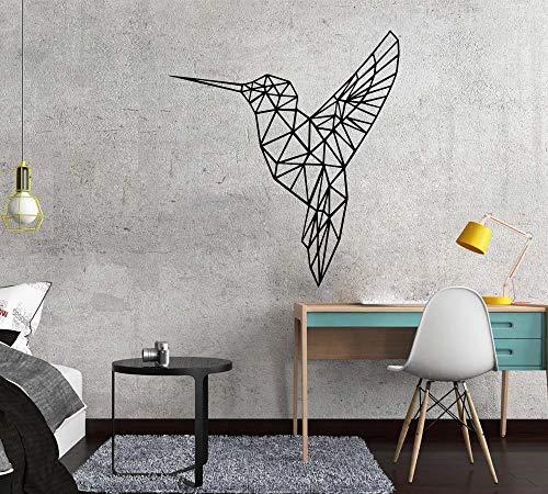 WERWN Arte geométrico Creativo de la Etiqueta engomada de la Pared del Vinilo del pájaro para la Sala de Estar Mural de la decoración del hogar