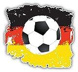 KW Vinyl Grunge Germany Flag Soccer Ball Truck Car Window Bumper Sticker Decal 5'