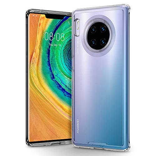 Hülleology Waterfall Kompatibel mit Huawei Mate 30 Pro Hülle, Transparent PC Dünn Clear Hülle, Handyhülle Huawei Mate 30 Pro (Crystal Clear)