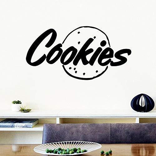 sanzangtang Cartoon-Stil Keks Vinyl Selbstklebende Tapete Kinderzimmer natürliche Dekoration Hintergrund Wandkunst Aufkleber 30x58cm