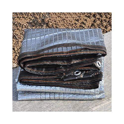 Telo Ombreggiante Rete Ombreggiante Lamina di Alluminio Succulente Gazebo Riflettente Protezione Solare Ombra Fibbia Metallica Antipolvere, 23 Dimensioni, Personalizzabile (Colore: Argento, Dimensioni