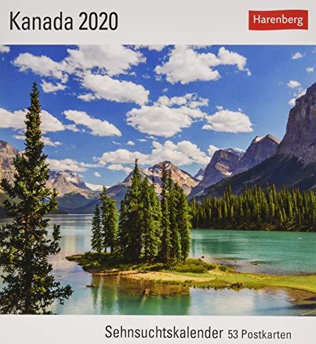 Kanada Postkartenkalender 2020. Wochenkalendarium. Blockkalender. Format 16 x 17,5 cm
