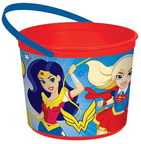 Amscan 260126 DC Super Hero Girls™ Plastic Red Pail