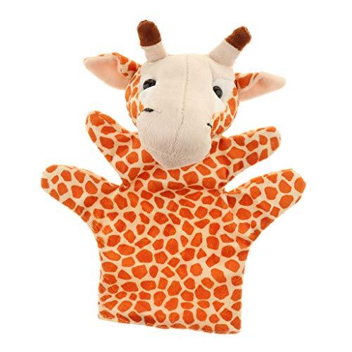 non-brand Marioneta de Mano Muñeca de Animales de Selva Africana de Peluche Juego de Narración de Cuentos para Bebés Niños - Jirafa