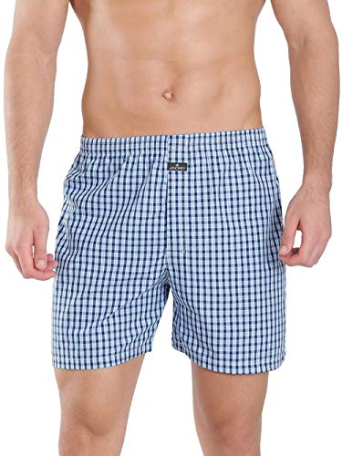 Jockey Men's Cotton Boxers (Pack of 2)(1222-0210-ASSTD Boxer Shorts L) (Color & Prints May Vary)