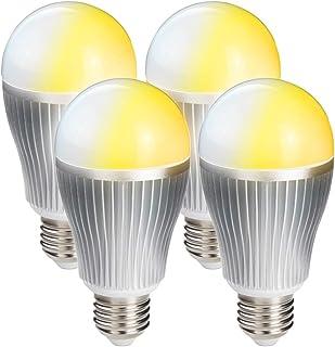 共同照明 4個セット LED電球 e26 60w形相当 無段階調光&調色可能 リモコン操作 (GT-B-9W-CT(4B)) e26口金 一般電球 led照明 DL-L60AV 昼光色 昼白色 電球色 長寿命 省エネ 節電 【リモコン別売り】