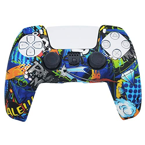 PS5 Silicone Gel Grip Controller Cover Skin Protector (Diamond) Compatible for Sony PlayStation 5, Compatible for PlayStation 5 Accessories, Wireless Controller Protector Covers, PS5 Skin