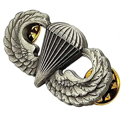 US ARMY Airborne Parachutist Paratrooper Jump Wings Insignia Pin Oxidized Badge