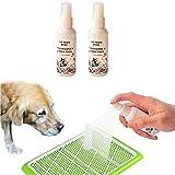 2 piezas de aerosol de entrenamiento para ir al baño 50Ml Spray de entrenamiento para inodoro efectivo para mascotas Accesorios inofensivos para perros Inductor para atraer mascotas y entrenarlos