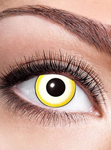 Replikant Kontaktlinse mit Dioptrien - farbige Motivlinse mit Sehstärke - Dioptrien: -1,5 - ideal für Halloween, Karneval, Motto-Party