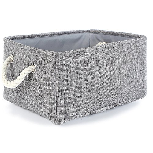 TheWarmHome Storage Basket Christmas Fabric Basket for gifts with Rope Handles