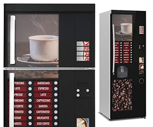 DON LETRA Vinilos para Neveras y Frigoríficos   185 x 60 cm   Máquina Expendedora de Café   Vinilo Adhesivo Impermeable, Resistente y Económico