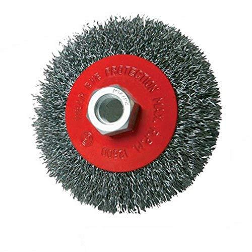 Silverline 277852 Stahldraht-Scheibenbürste, gewellt 100 mm