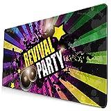 Music Club - Alfombrilla de ratón para juegos de discoteca, alfombrilla de ratón grande extendida, bordes cosidos, base de goma antideslizante, almohadillas para ratón, 29.5 x 15.7 pulgadas