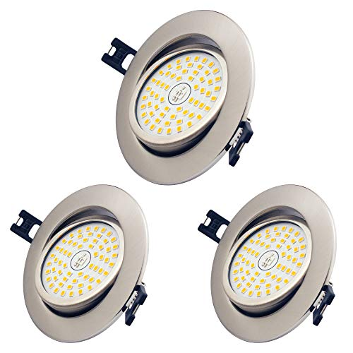 3 x 12W LED Foco empotrable de baño, Blanco Calido 3000K, Ø85-95mm,...