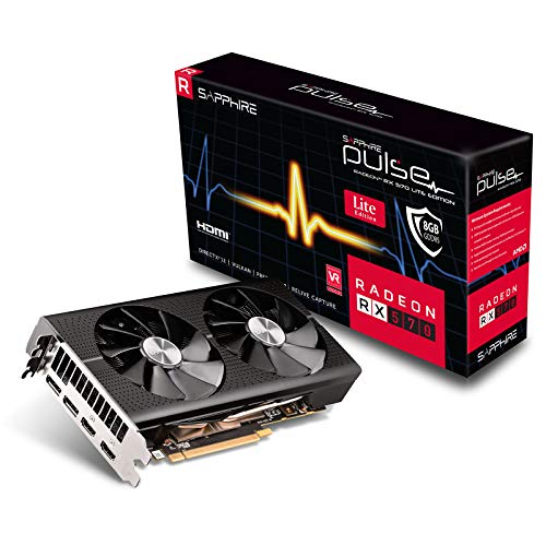 Sapphire AMD Radeon RX 570 Pulse OC lite 8GB Grafikkarte 2xHDMI/2xDP