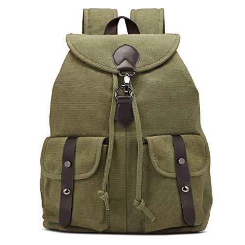 AtailorBird Borse Donna Zaino Tela Donna Grande Capacità Zainetto Borsa da Scuola Casual Multifunzione Antifurto Borse Backpack Daypack Viaggio Lavoro - Esercito Verde