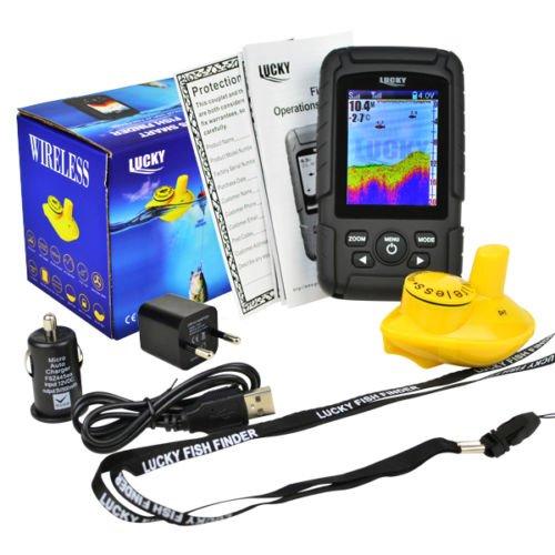 LUCKY Colour Wireless Fish Finder - 100+ Metre Range, Depth, Contours,...