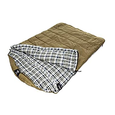Blackpine Sports Grizzly 2 Person +0 Degree Rip Stop Sleeping Bag (Olive)