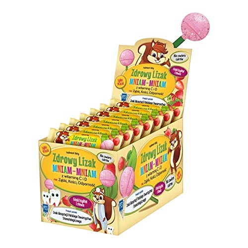 40 Organic LOLLIPOPS Healthy Candy Sweets SUGAR FREE Glutenfree ECO with XYLITOL and Stevia 40 pcs Strawberry