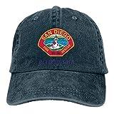 Hoswee Hombres Mujer Gorra Beisbol,Snapback Sombreros San Diego Fire Department Logo Unisex Gorras...