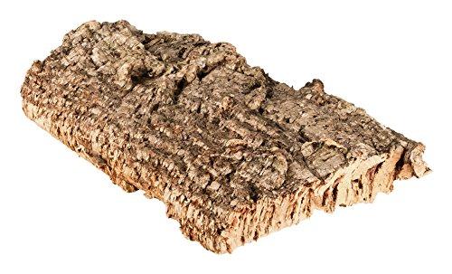 Korkrinde Korkstück, 30 x 15 cm (Naturkork, Zierkork) gereinigt & desinfiziert – ideal für Haustiere (Nager + Vögel) oder Basteln & Hobby (Modellbau), unbehandelte Rinde von der Korkeiche, flach