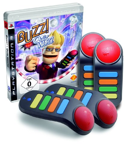 BUZZ! - Quiz World + 4 Wireless Buzzer