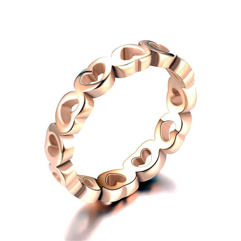 完全に乾くぺディカブ良心のリング,結婚指輪大きなリング リングメンズチタン鋼ステンレス鋼のカップルリングピーチハートシェイプカップルローズゴールド 男性女性 (色 : B, サイズ さいず : 12)