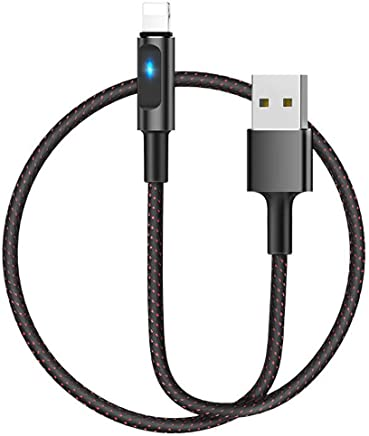 HOCO Essence Core Auto Disconnect Fast Charging USB Data Cable for iPhone 1.2M (Black)