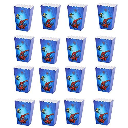 Spiderman Cajas de Palomita Fiesta Cumpleaños 18 Piezas Cajas para Chuches Spider...