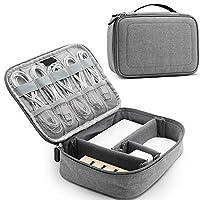 パワーバンク用キャリー収納ケース、小型トラベルエレクトロニクスケーブルオーガナイザーバッグ、ハードドライブ用USBケーブルSDカード