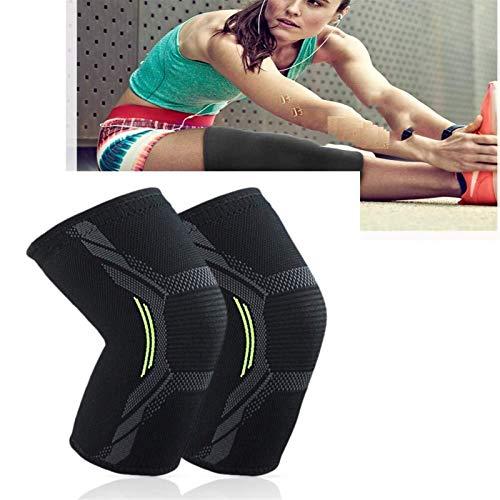 Sport Knee Support Strace, 1 PCS Pad Cómodo Pad Rodilla Green Rodilla Protector de cálido para el dolor en el dolor de las articulaciones y la recuperación de lesiones del baloncesto del baloncesto